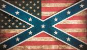 Confederate and united states flag concept — Stock Photo