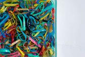 The plastics, rubber, red, black, blue, white.isolation — Stock Photo