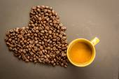 Coffee on grunge dark background — Stock Photo