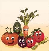 Illustration Collection of Animated Vegetables — Stock Photo