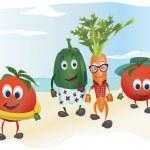 Set of  Cartoon Vegetables — Stock Vector #76141171