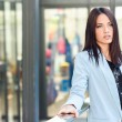 Businesswoman in modern office building — Stock Photo #58289619