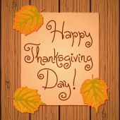 Happy Thanksgiving Background. — Stock Vector