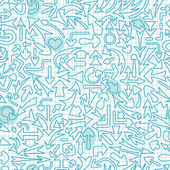 Seamless pattern with different arrows. — Stok Vektör