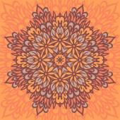 Flower Mandala. Abstract background. — Vector de stock