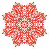 абстрактный цветок мандале. декоративный элемент для дизайна. — Cтоковый вектор
