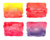 Wet Watercolor Ombre Backgrounds. Hand Painted. — Stock Vector