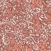 Sonbaharda çiçek. dikişsiz dekoratif desen. — Stok Vektör