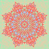 Flower Mandala. Abstract background. — 图库矢量图片