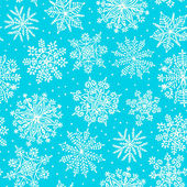 Hand drawn snowflakes. Seamless pattern. — Stock vektor