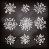 Hand drawn snowflakes. — Stock Vector