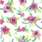 Seamless pattern with flowers in vector. — Vettoriale Stock