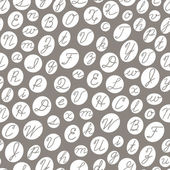 Seamless pattern with English cursive letters. — Stock Vector