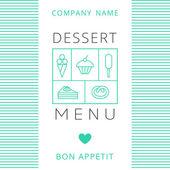 Dessert Menu Card Design template. — Stock Vector