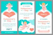Valentines Day Party. Design templates. — Vector de stock