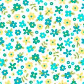 Seamless pattern with cute flowers. — Stock Vector