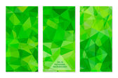 Set of Abstract Geometric Polygonal Backgrounds. — Stock Vector