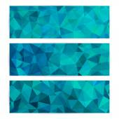 Set of Abstract Geometric Polygonal Backgrounds. — Stock vektor
