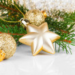 Bright christmas composition with stars and sample text — Stock Photo #52123445