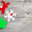 Christmas decoration on wood background, with free space for you — Stock Photo #55265785