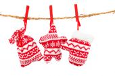 Christmas decoration isolated over white background — Stock Photo