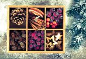 Beautiful packaged Christmas decoration, close up — Stockfoto