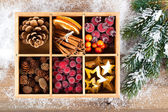 Beautiful packaged Christmas decoration, close up — Stock Photo