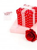 Two gift box on white background — Stock Photo