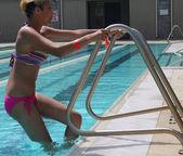 Leaving Swimming Pool — Stock Photo