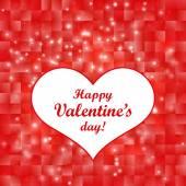 Carte de Saint Valentin avec cœur. illustration vectorielle. — Vecteur