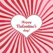 Cartão de dia dos namorados com o coração. ilustração vetorial. — Vetor de Stock