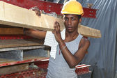 Man working in construction site — Foto Stock