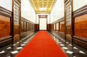 Long corridor of historic building — Stock Photo