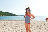 Happy girl on vacation — Stock Photo