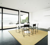 Interior modern house, dining room — Stock Photo