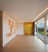 Luxury room with geometric art wall — Stock Photo