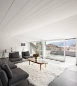 Interior Architecture, modern attic — Stock Photo