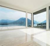 Beautiful penthouse, empty living room — Stock Photo