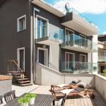 Nice terrace of modern house — Stock Photo #63042809