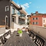 Nice terrace of modern house — Stock Photo #63043581