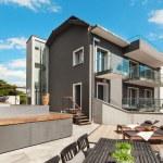 Nice terrace of modern house — Stock Photo #63043805