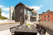 Nice terrace of modern house — Stock Photo