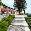 Nice villa, view from the pathway — Stock Photo #63386899