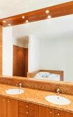 Łazienka, dwie umywalki — Zdjęcie stockowe