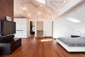 Nice bedroom interior — Stock Photo