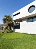 Exterior, modern house in beton — Stock Photo