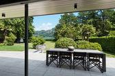 Beautiful patio of a villa — Fotografia Stock
