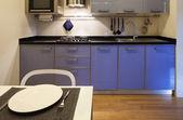 Comfortable domestic kitchen — Stock Photo