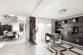 Krásný sál luxusní byt — Stock fotografie