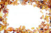 Baltic amber frame — Stock Photo